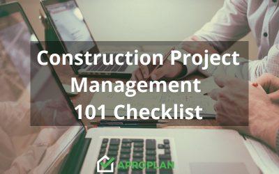 Construction Project Management 101 Checklist