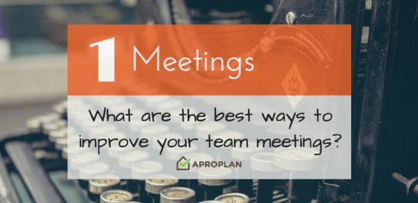 Improve Meetings Aproplan smartbuilding